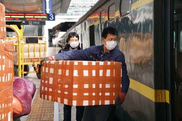 通过铁路运输的鲜花  图源 | 云南信息港