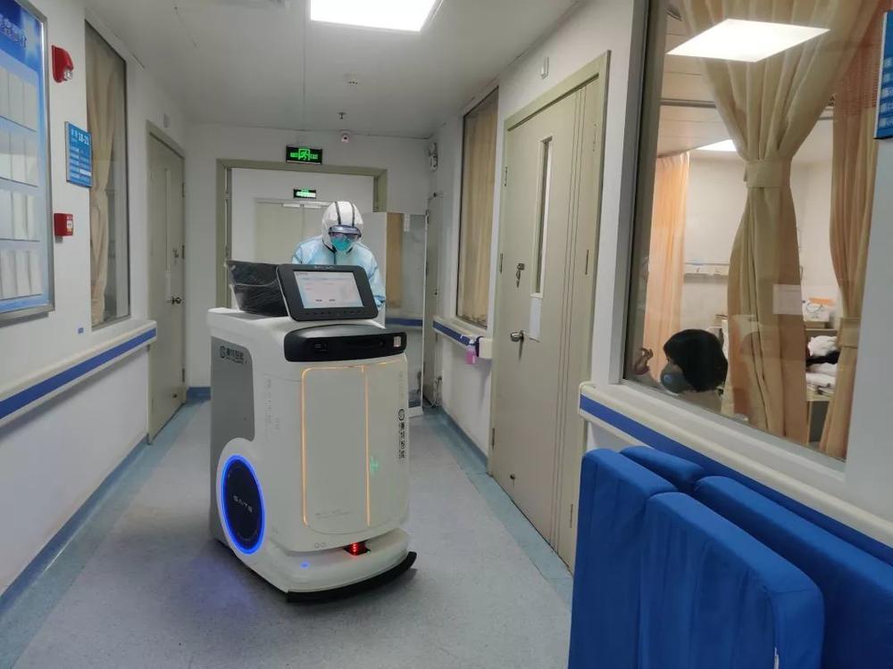 赛特智能配送机器人在广东省人民医院感染内科