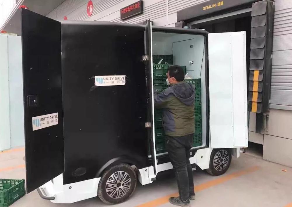一清创新的无人车适用于疫区场景下的非接触配送