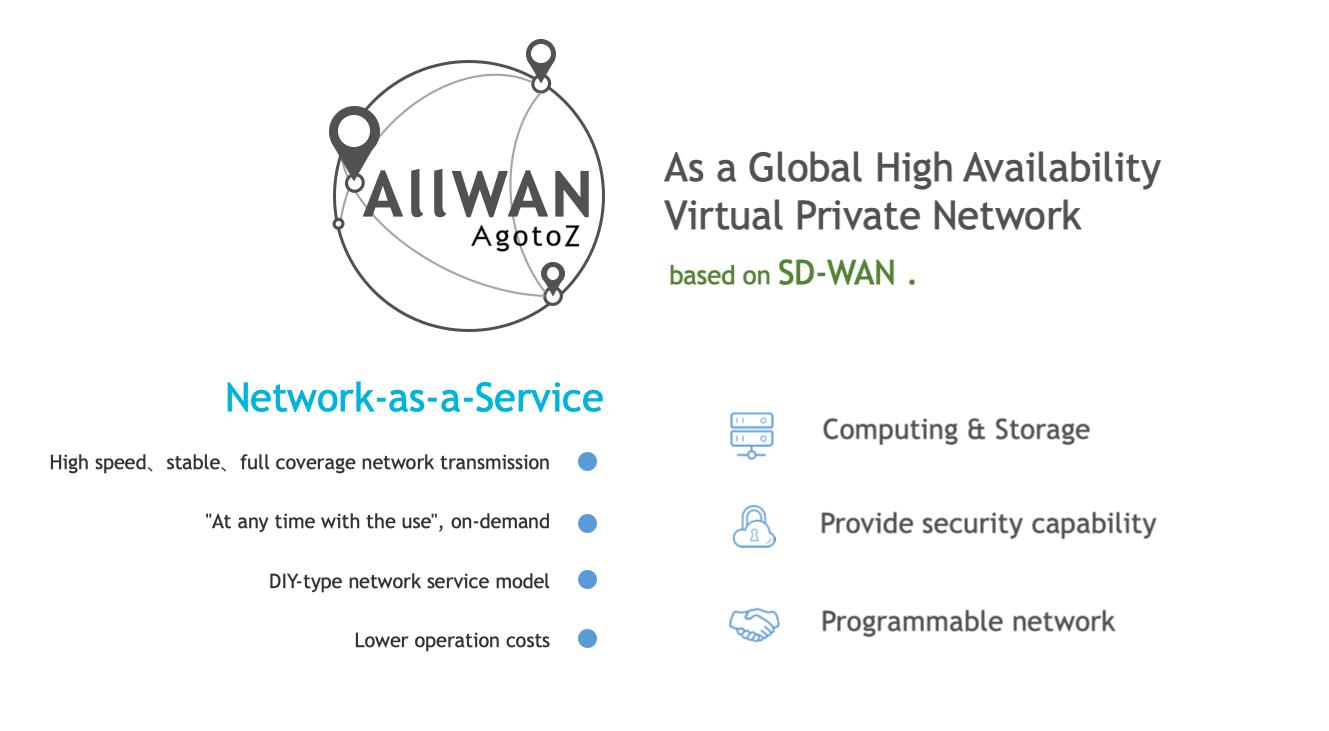 观脉AllWAN解决方案优势:高速、稳定、可控、低价等。